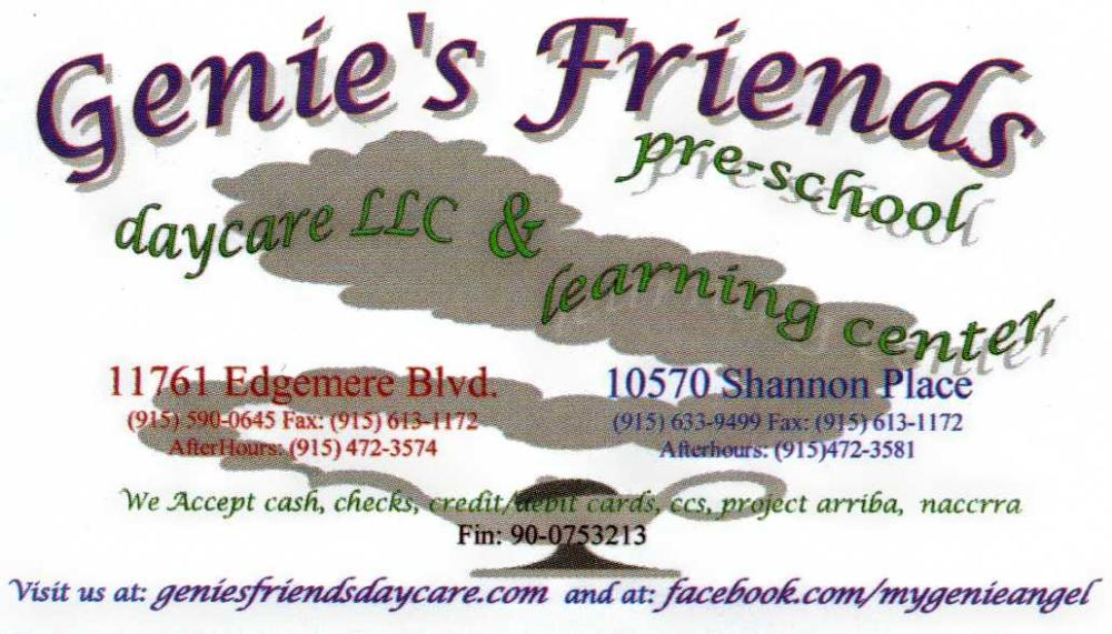 Biz%20Card%20-%20Genie's%20Friends%20Pre-%20Daycare%20(1) Home Daycare Furniture Credit Card on college lounge furniture, dramatic play furniture, home toys, family day care furniture, knock down plywood furniture, office furniture, home day care room ideas, business furniture, classroom furniture, home chairs, camp furniture, montessori furniture, senior living furniture, home health care logs, special needs furniture, day care looking for furniture, reading center furniture, home playground equipment, home office supplies, cafeteria furniture,